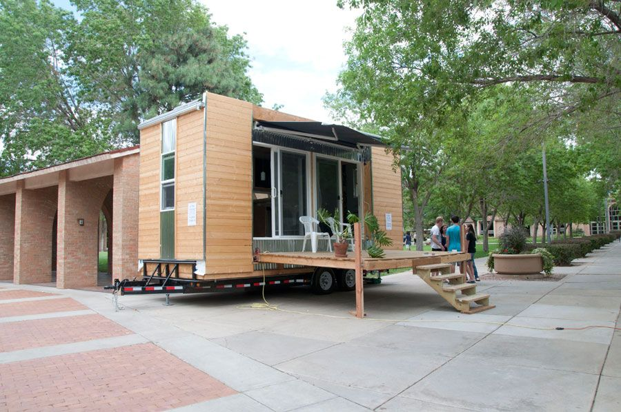 Little Houses On Wheels modern styled tiny house - self-built tiny house on wheels in
