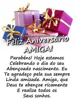 Mensagem De Aniversário Para Amiga Mensagem De Aniversário Para