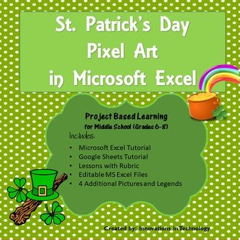 St Patrick\u0027s Day Pixel Art in Microsoft Excel or Google Sheets - Create A Spreadsheet In Excel