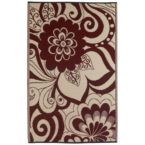 Fab Rugs World Maui Cranberry Red Cream Indoor Outdoor Area Rug Rug World Indoor Outdoor Area Rugs Area Rugs
