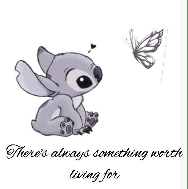 This is what I want as a tattoo. Stitch plus the butterfly for self ...