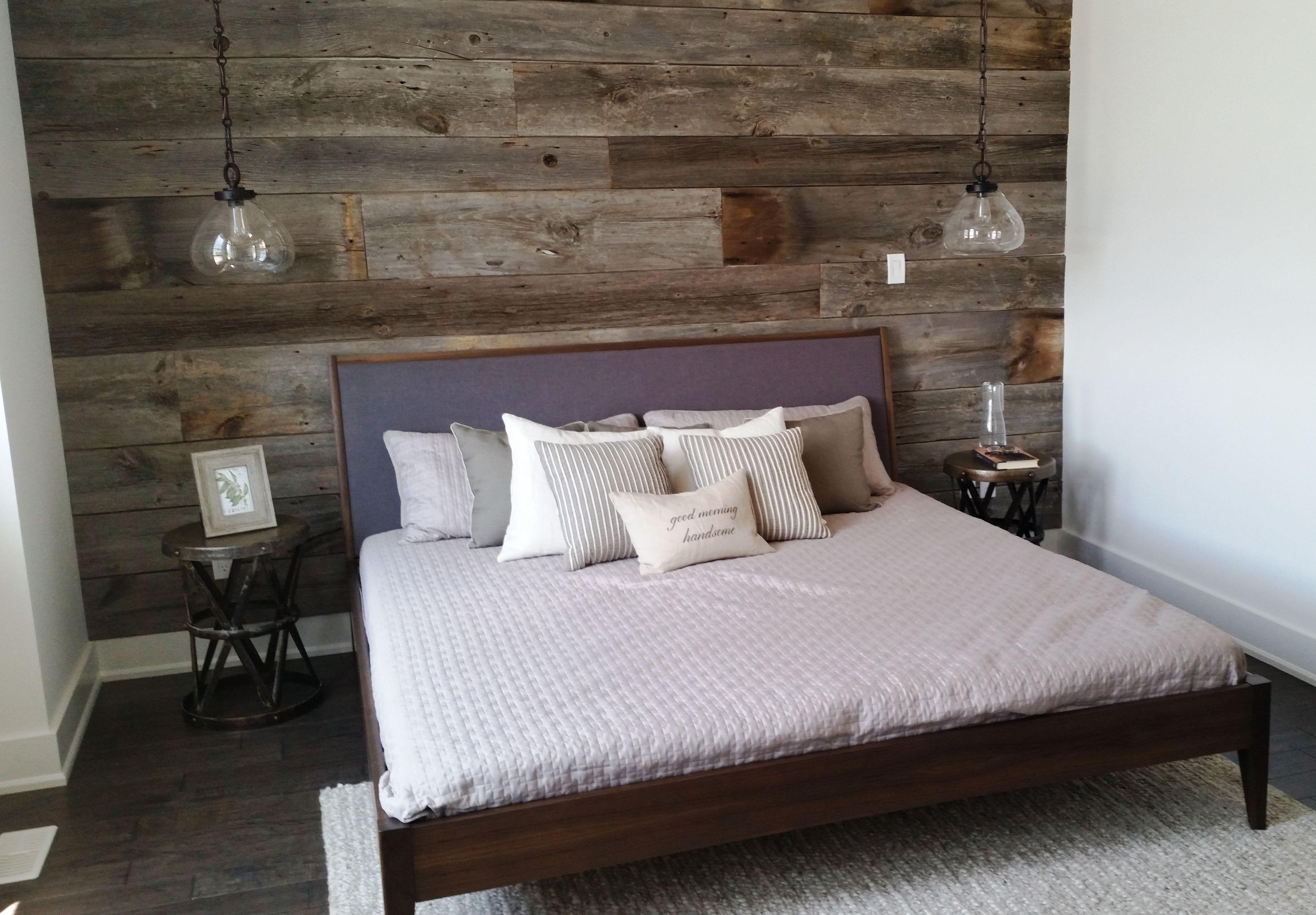 Grey Reclaimed Barn Board Feature Wall By Barnboardstore