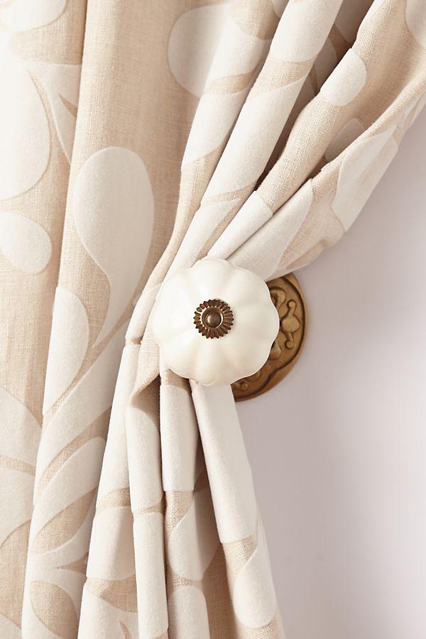 Ceramic Melon Tieback Tieback Curtain Tie Backs Diy Curtain