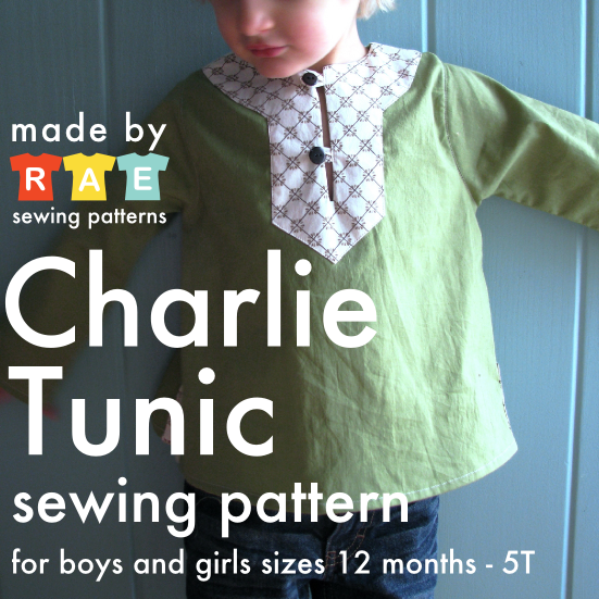 Charlie Tunic PDF Sewing Pattern is here