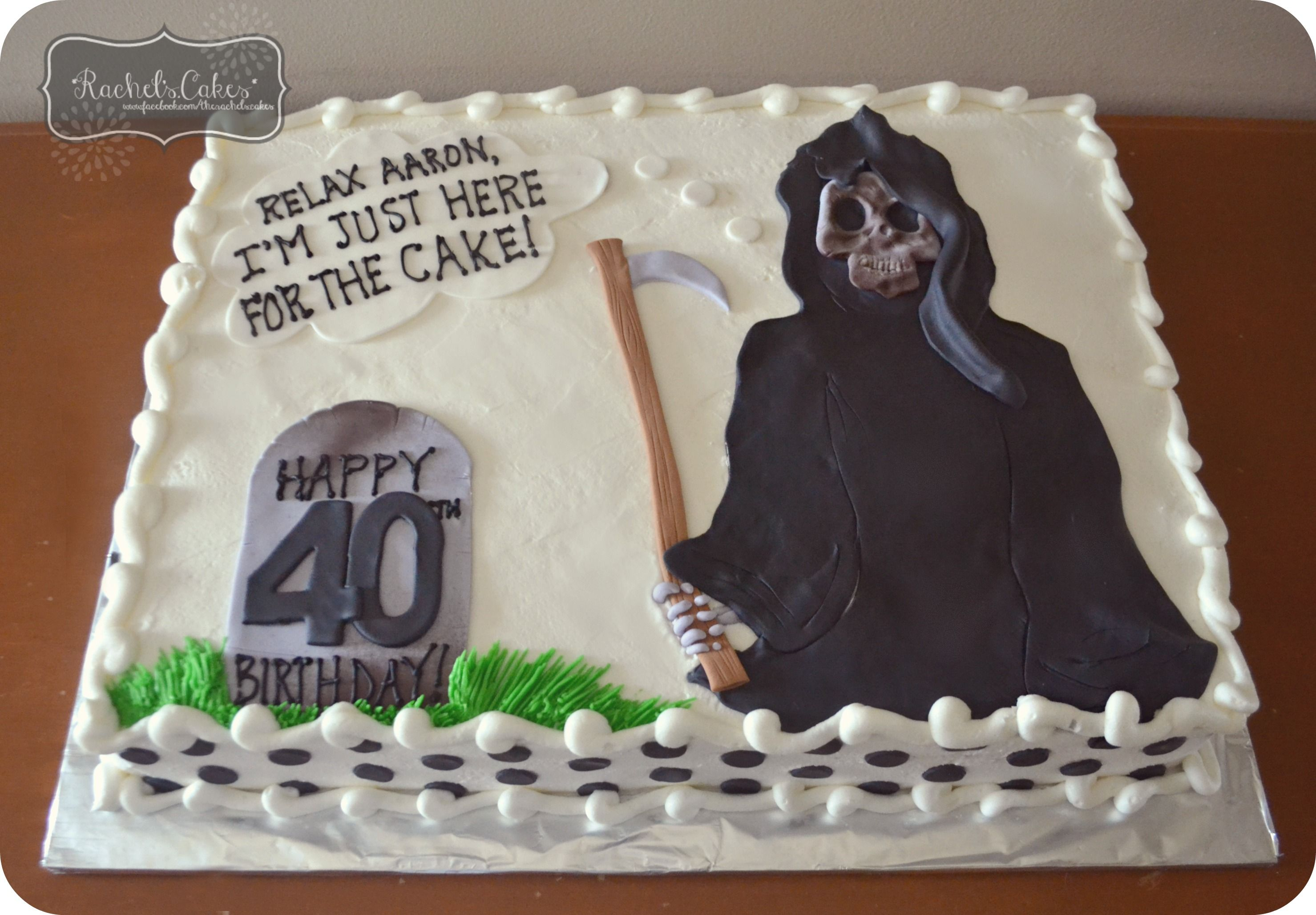 Grim Reaper 40th Birthday Cake Birthday Cakes For Men Happy