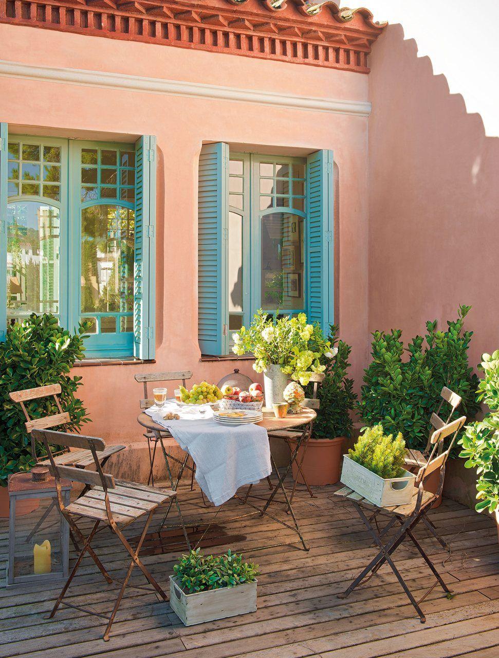Saca partido a una terraza pequeña | Terrazas, Pequeños y Patios