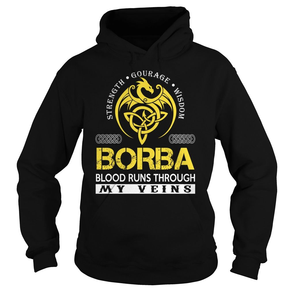 BORBA Blood Runs Through My Veins (Dragon) - Last Name, Surname T-Shirt