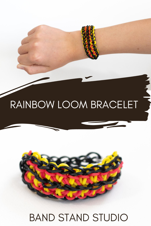 Yellow And Black Fishtail Bracelet Set