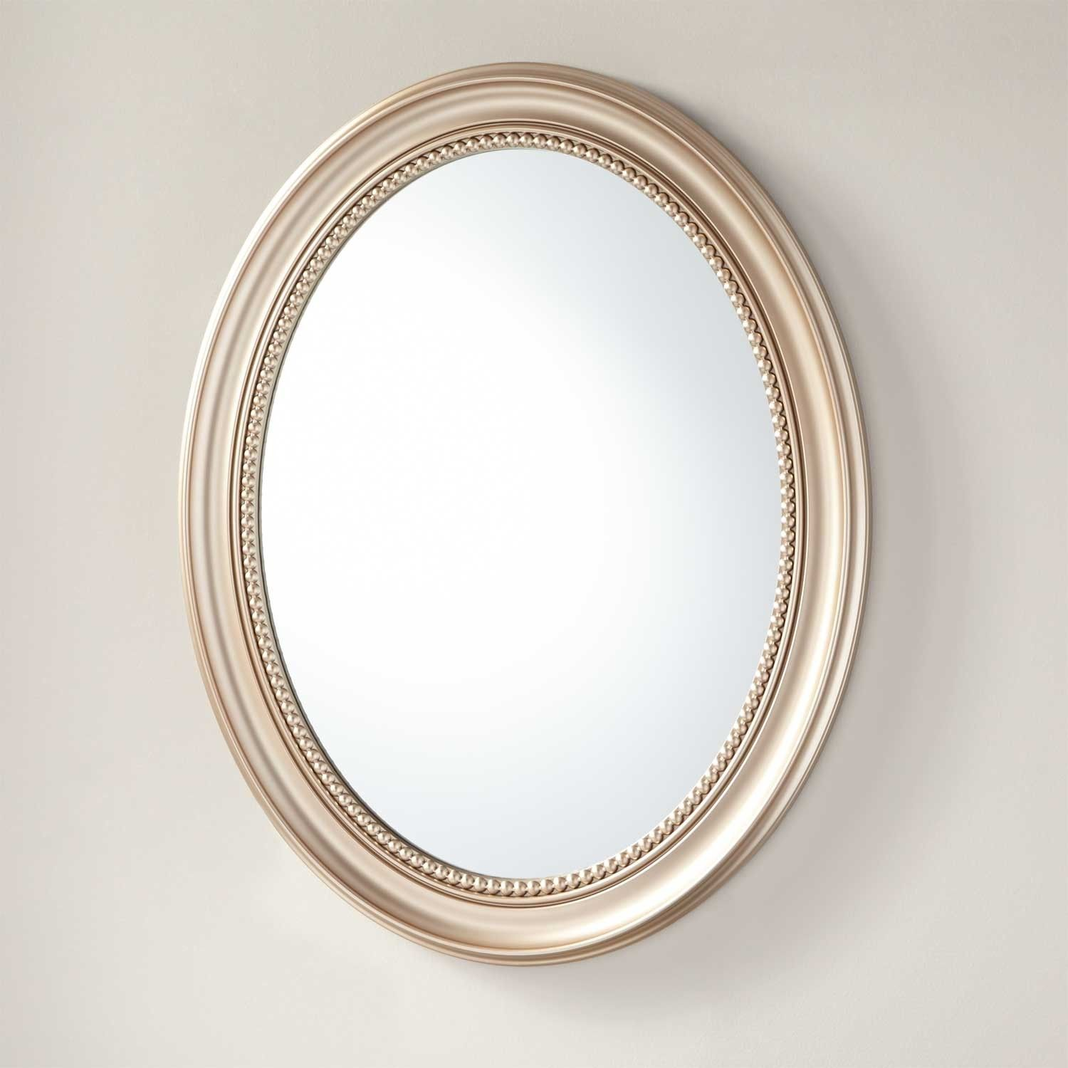 Favaloro Recessed Mount Oval Medicine Cabinet with Mirror ...