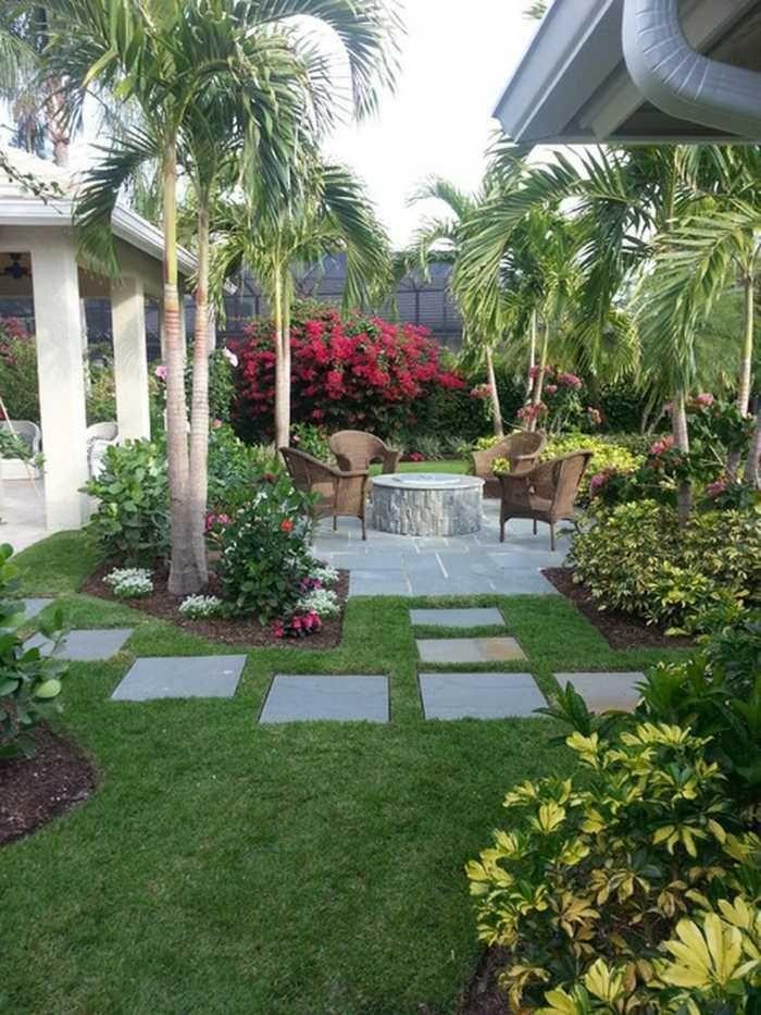 amenagement jardin avec palmier