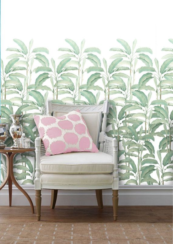 Tropical Leaf Removable Peel N Stick Wallpaper By Wallpaperie