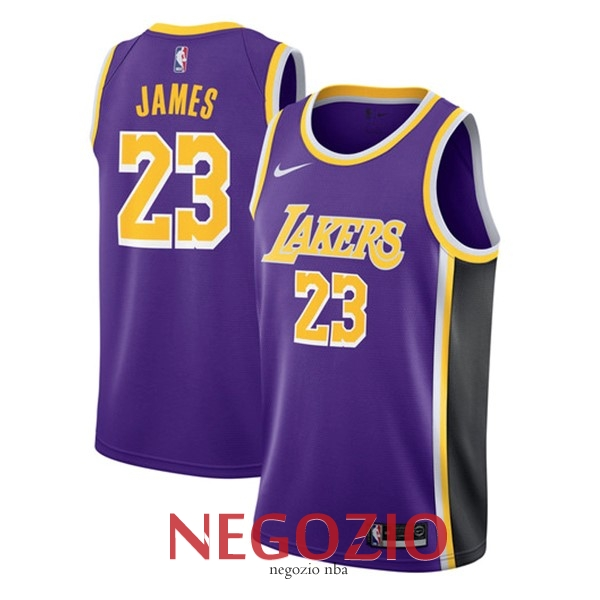 Migliori Maglia Nba Nike Los Angeles Lakers No 23 Lebron James Porpora Statement 2018 19 In 2020 Lebron James Los Angeles Lakers Nba
