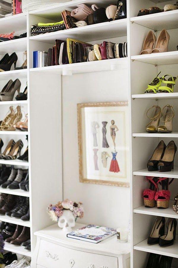 Vestidor blanco de ikea con baldas para bolsos y zapatos - Baldas para zapatos ...
