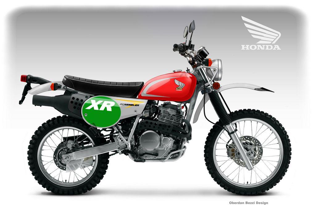 clasic honda motorcycles | Honda XR 650 Scrambler Classic Concept
