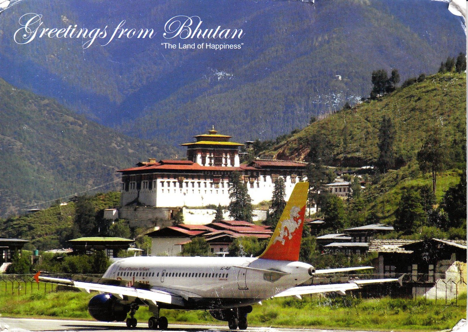 Drukair Royal Bhutan Airlines Airbus A319 On The Runway At Paro Airport Airlines Travel Airbus