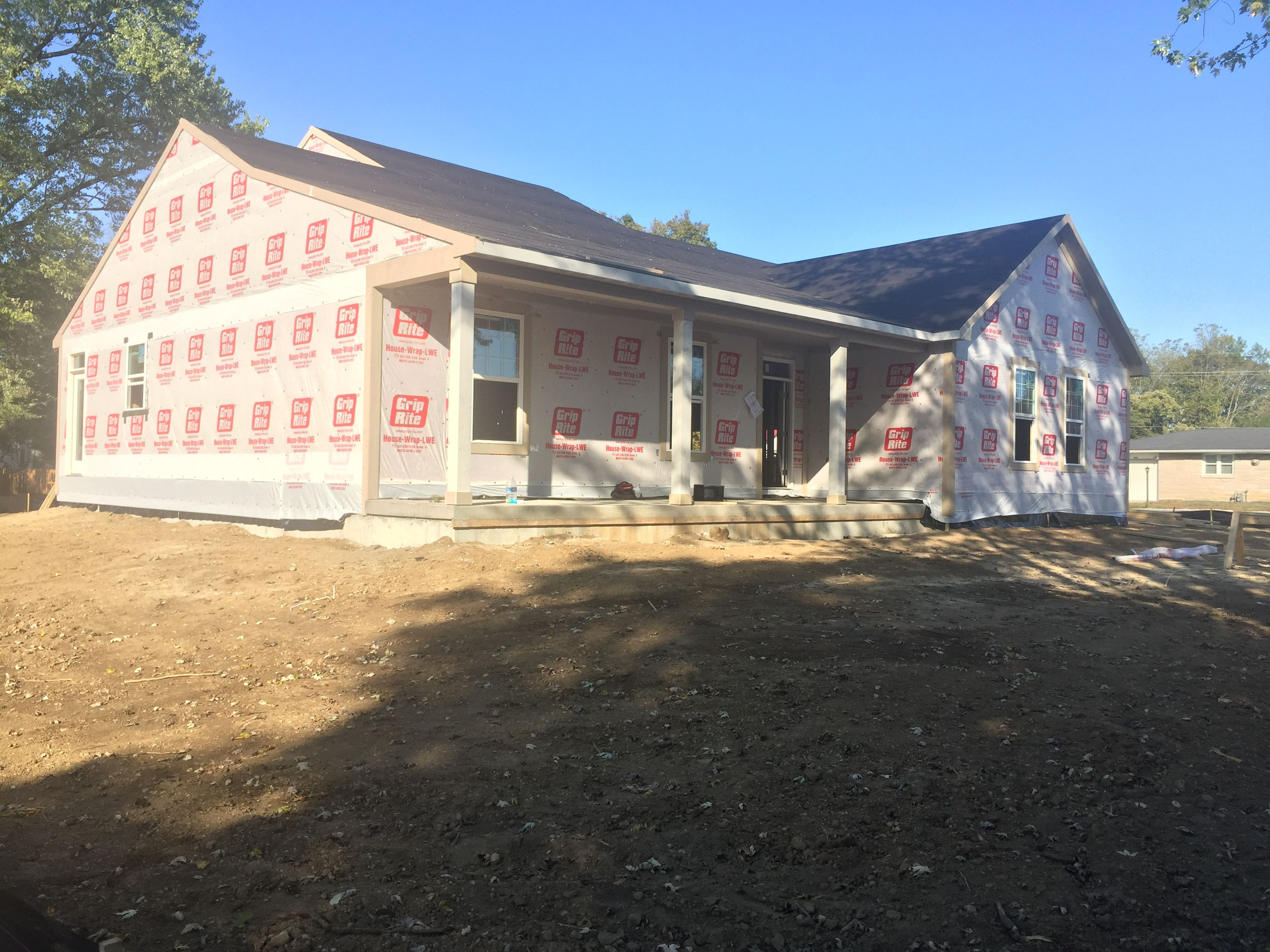 Construction Is Coming Along Nicely New Homes House Styles House