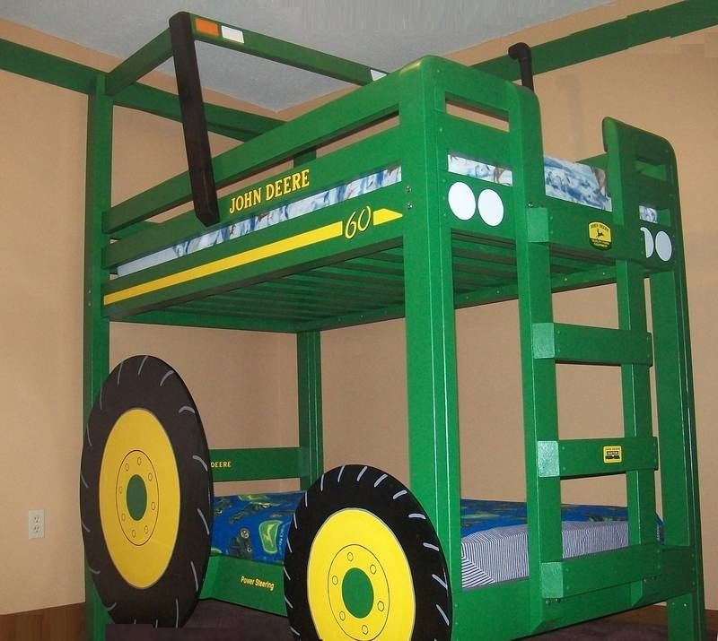 Green Bunkbeds Tractor Toddler Bed Bunk Bed Plans Toddler Bed Frame