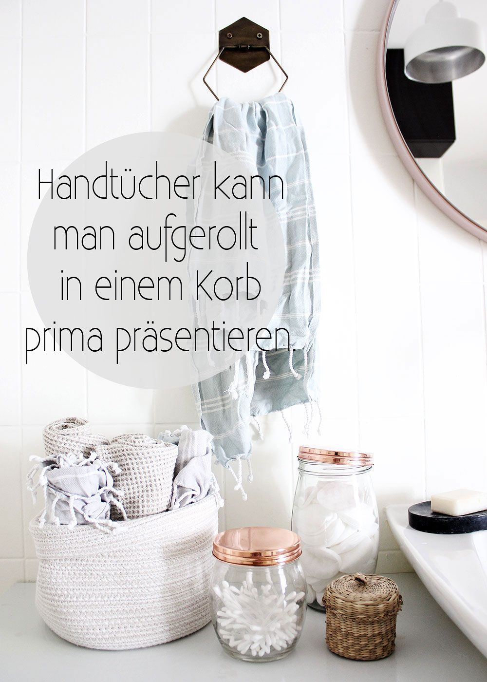 badezimmer deko körbe | stauraum für ein kleines badezimmer wir
