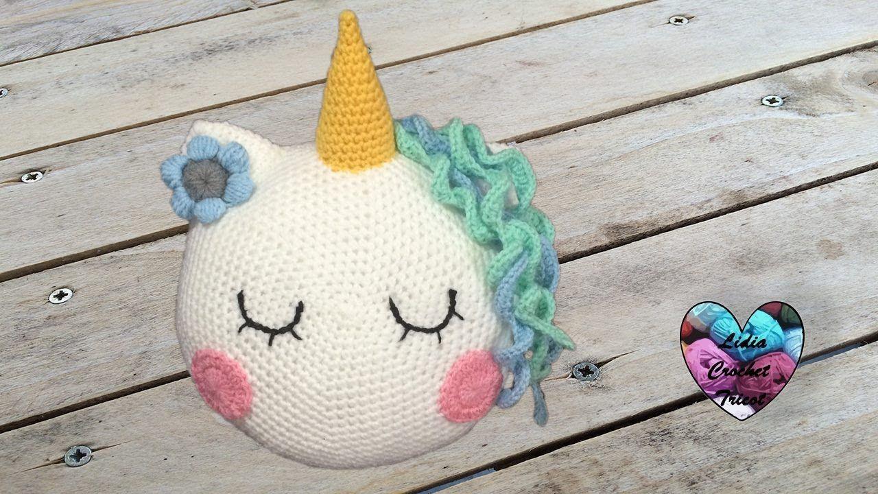 CONCOURS!!! Coussin Licorne Crochet Facile   Personnages crochet ...