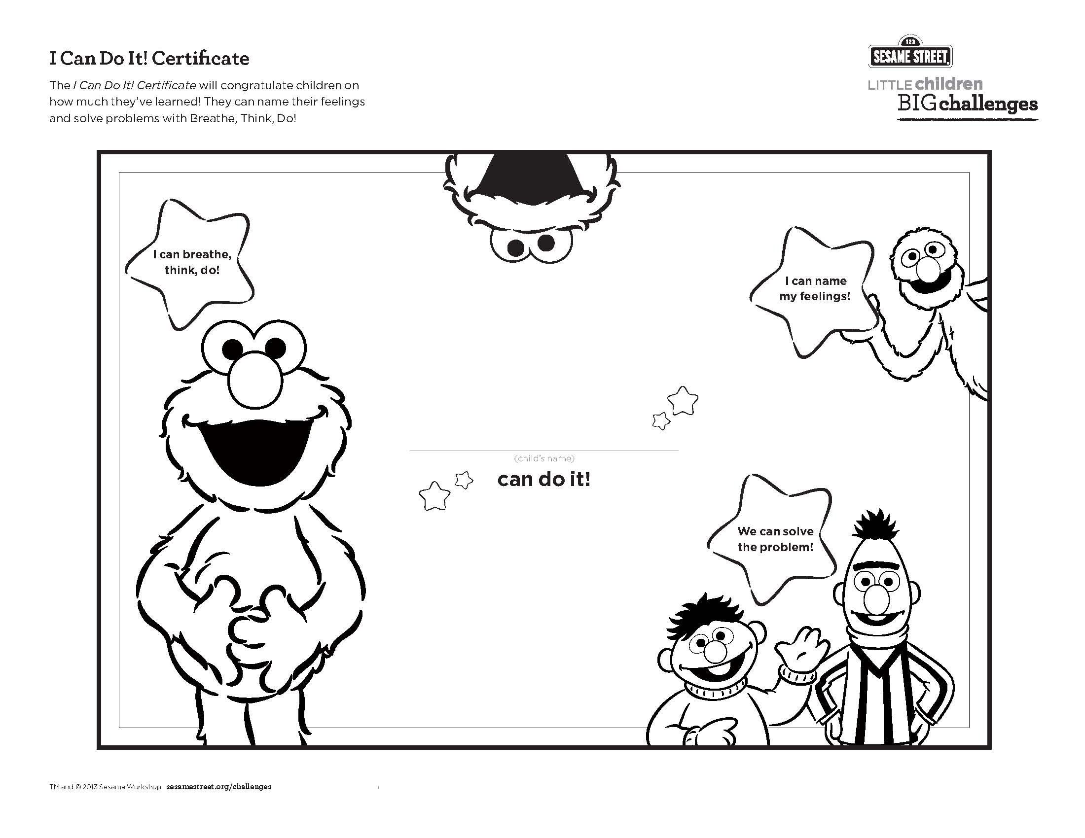 The I Can Do It Certificate Printable Will Congratulate