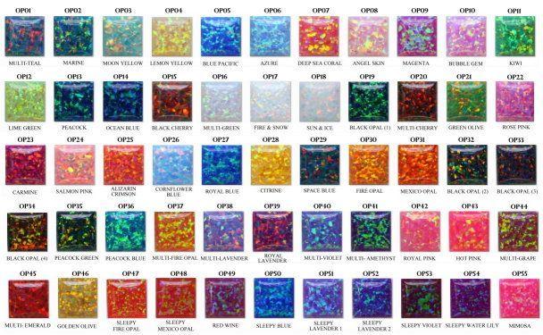 Synthetic Opal Color Chart Opal Pinterest Opal Opal Gemstone