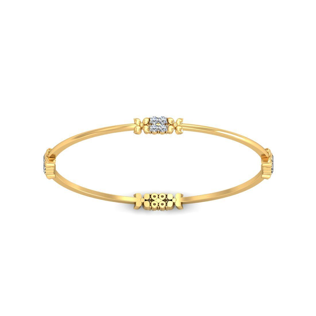 Diamond bangles for women ct solid gold vacation diamondbangle