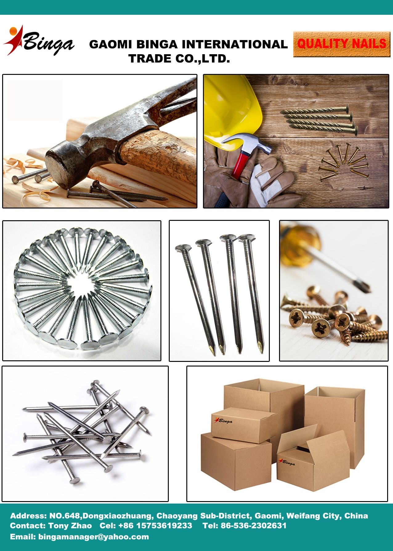 Gaomi Binga International Trade Co Ltd Export Galvanized Roofing Nails Common Round Nails Iron Nails Steel Na Steel Nails Roofing Nails Galvanized Roofing