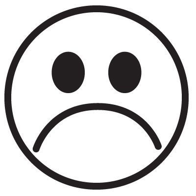 Scared Frown Face Clipart Clipart Kid Desenho De Emoji Molde