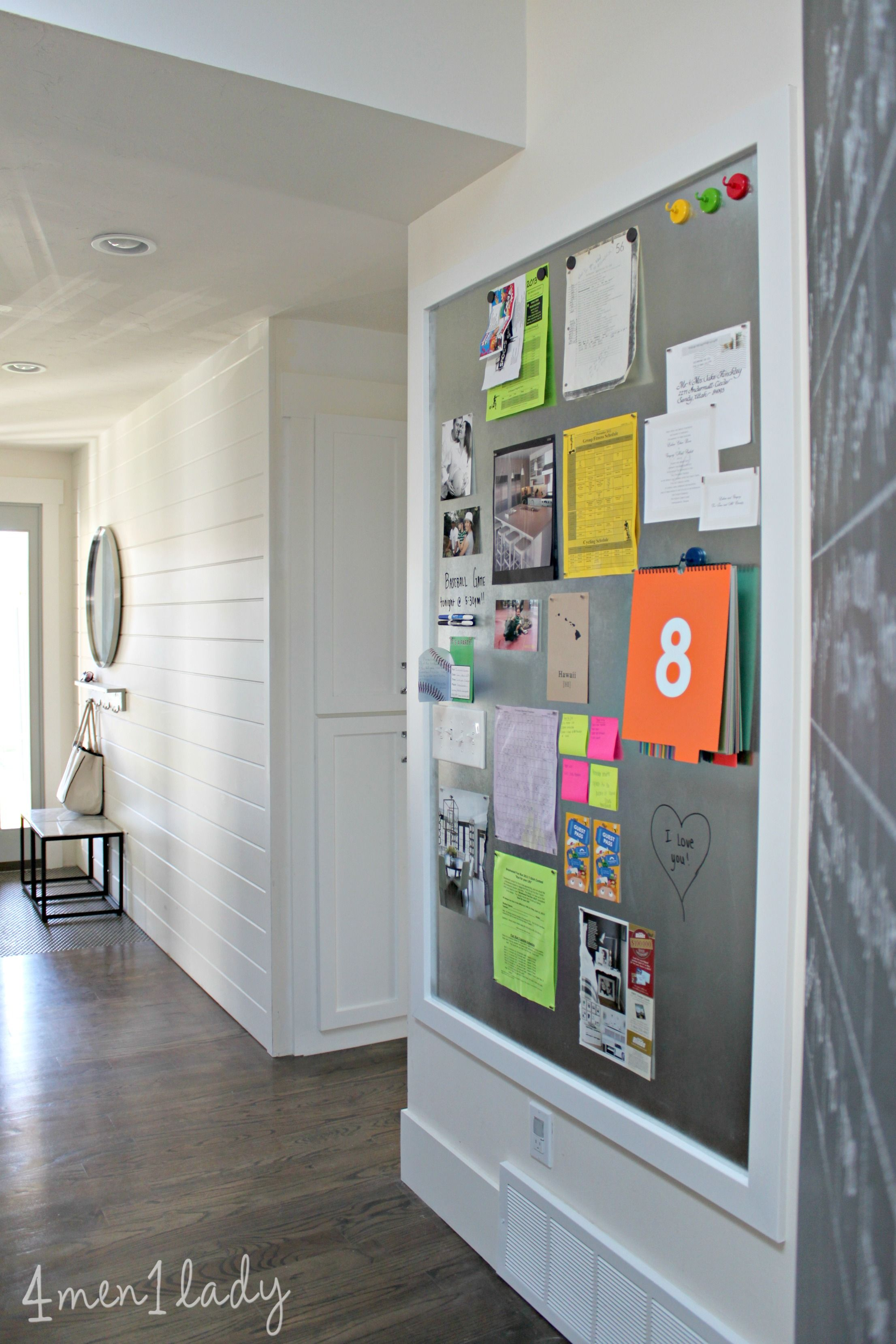 Mudroom Memo Magnet Board Horizontal Panelling Floor