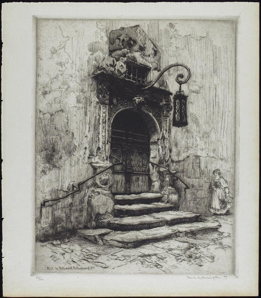 Portal Im Rathoushof Rothenburg .t. 1909 Frank Milton
