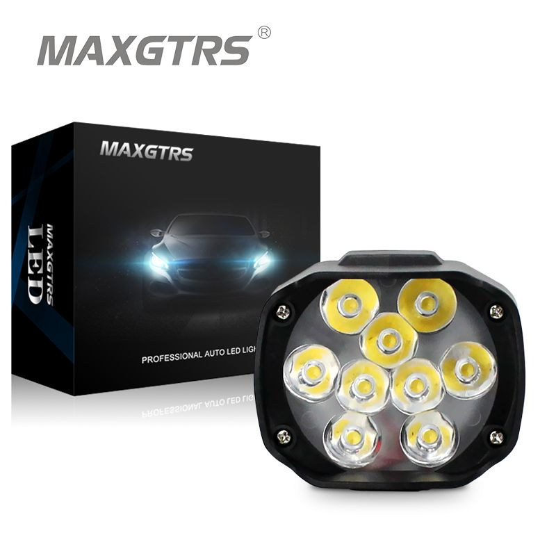 maxgtrs moto led phare lampe 15 w 1500lm scooters phares. Black Bedroom Furniture Sets. Home Design Ideas