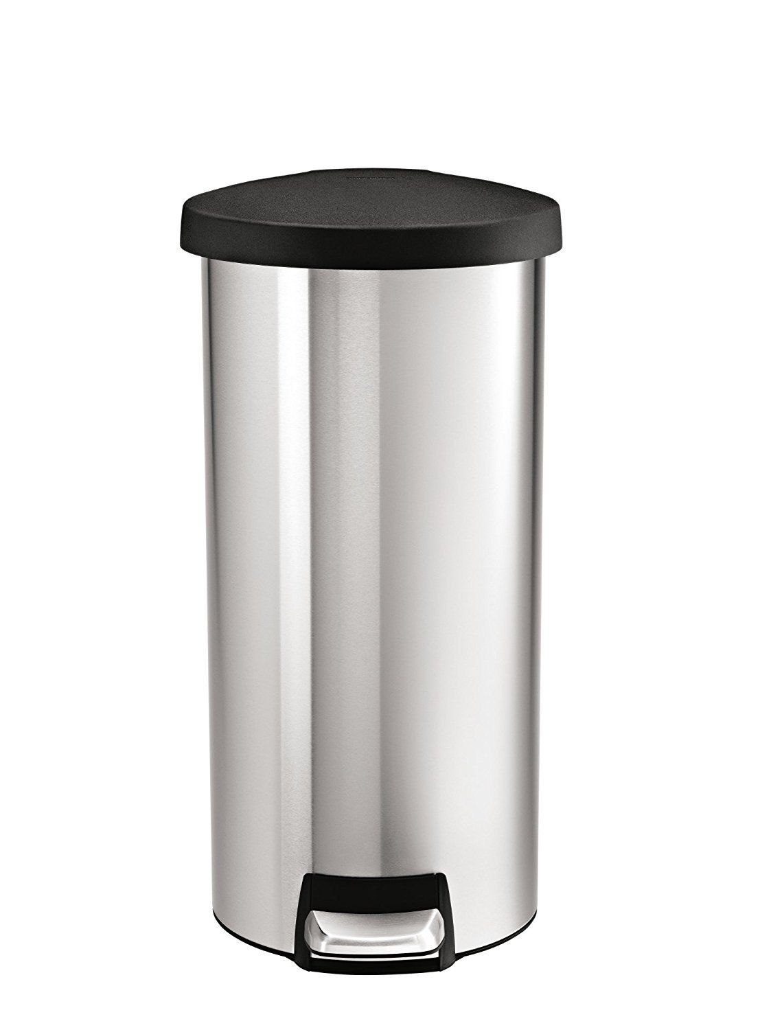 Best Simplehuman Round Step Trash Can Stainless Steel Plastic 400 x 300