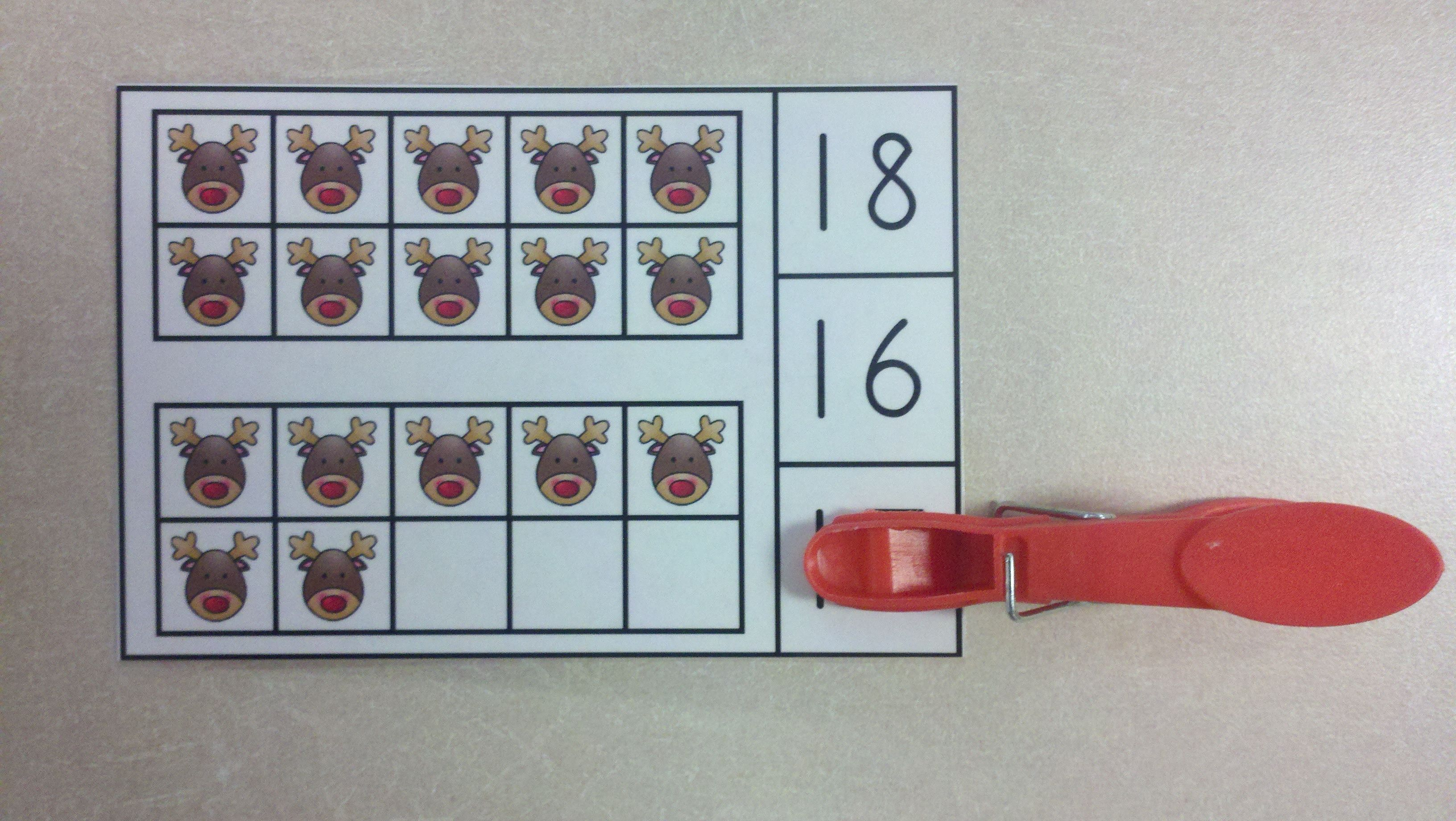 Christmas Time Ten Frames Math Centers Quantities Of 0 To