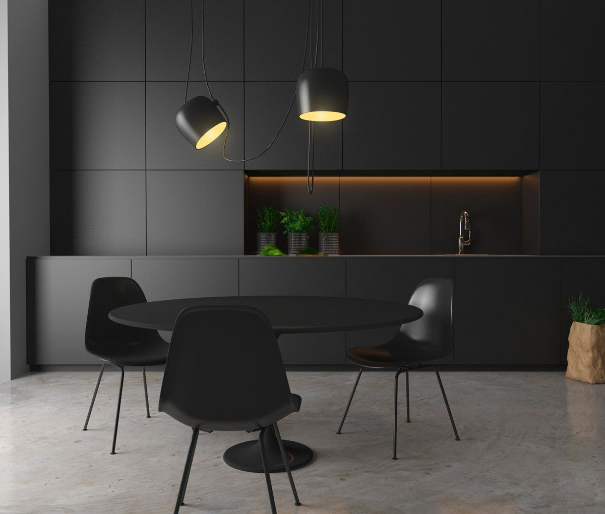 36 stunning black kitchens that tempt you to go dark for for Modern kitchen furniture design