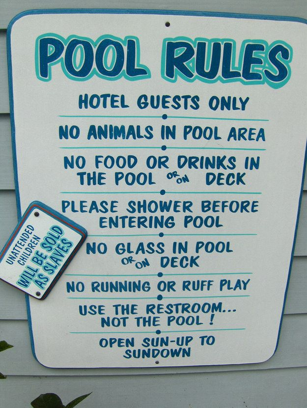 12 Things To Avoid On Your First Business Trip Pool Rules Pool Safety Pool