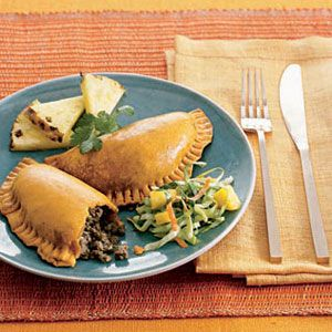 Jamaican Meat Patties—store-bought dough makes these cute handpies super easy. #recipes
