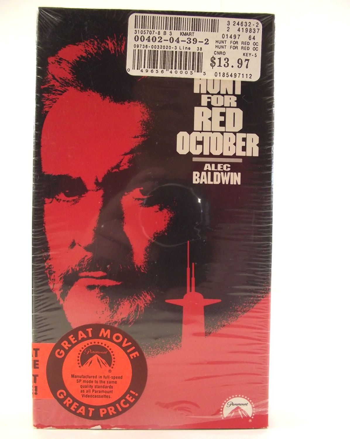 The Hunt for Red October VHS 1990 Sean Connery Alec Baldwin Scott Glenn NTSC Video PG Movie Film Cold War Action Adventure Thriller #35E by AdriennesAtticStore on Etsy