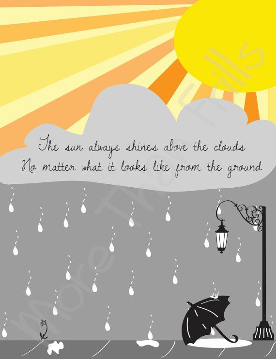 Sunshine and Rain Printable Wall Art by MoreThanFrills on Etsy, $10.00