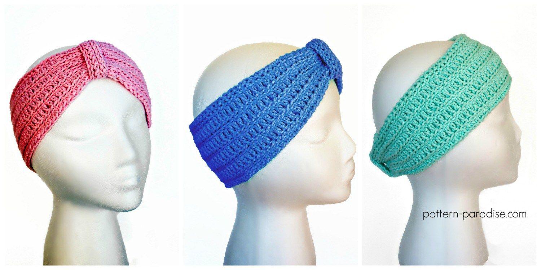 Free Crochet Pattern Tranquility Turban Headband by Pattern-Paradise ...