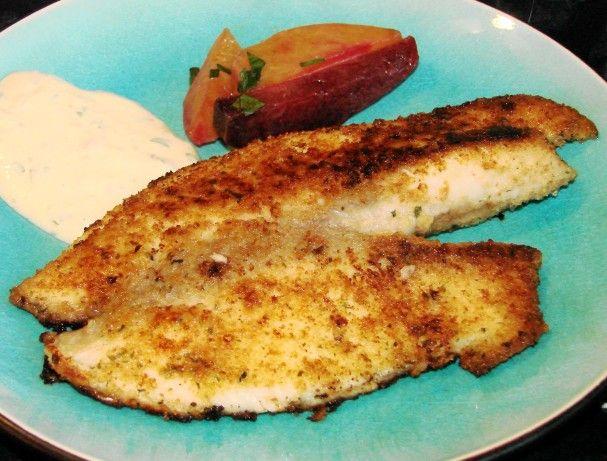 Pollock with Crisp Herb-Parmesan Breadcrumbs - EatingWell