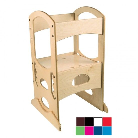 Montessori Furniture Adjustable Step Stool With Railings