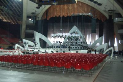 Yerevan: first photos of the stage!