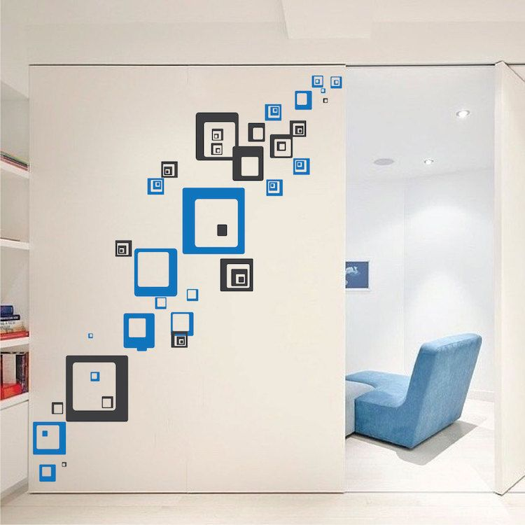 Square Shaped Wall Decals - Square and Rectangle Wall Art ...