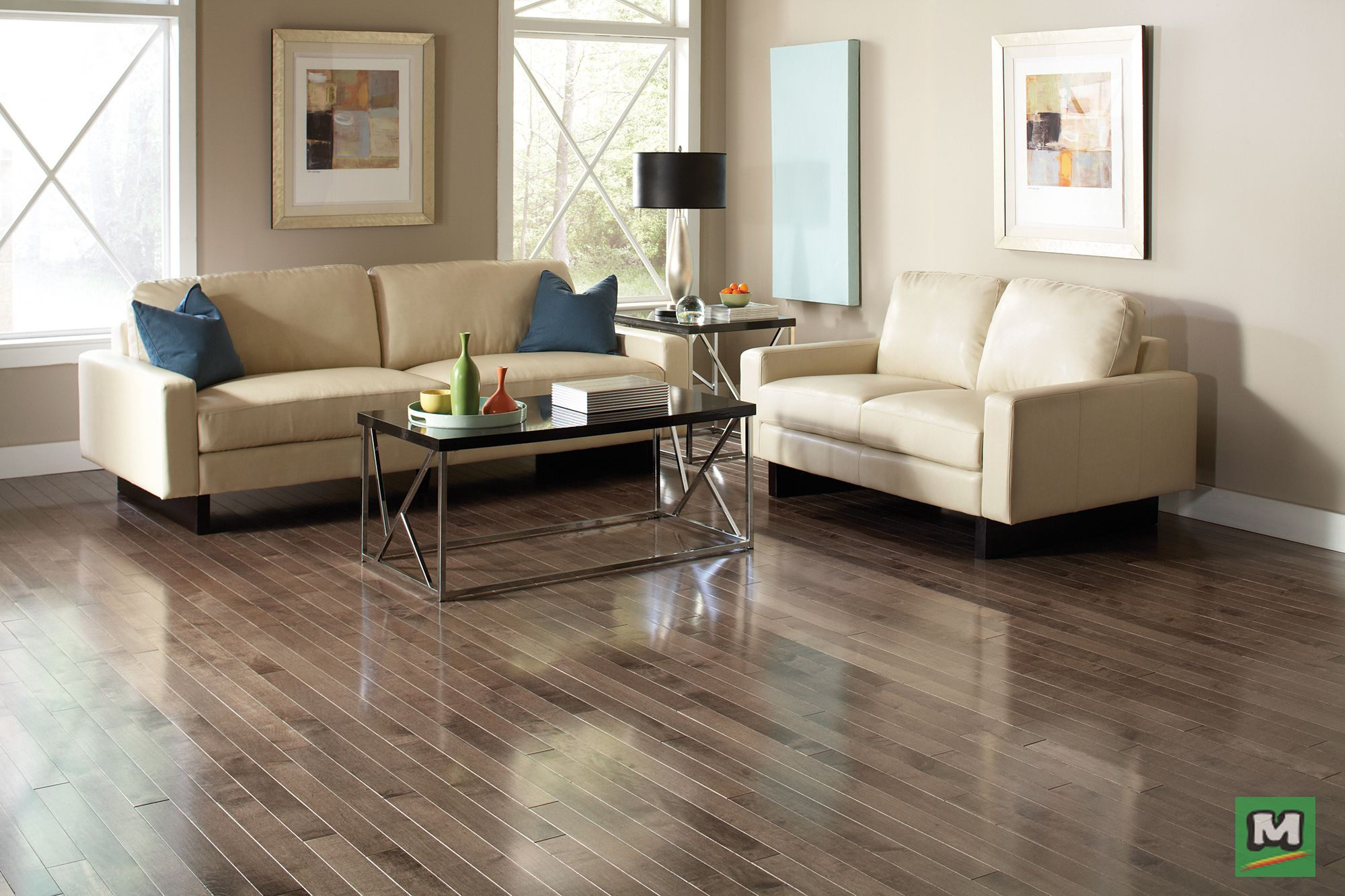 This 3/4inch Maple Misty Morning solid hardwood flooring