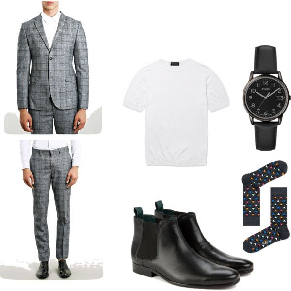 Smart Casual Suiting by tailormadedj on Polyvore featuring John Smedley and menswear