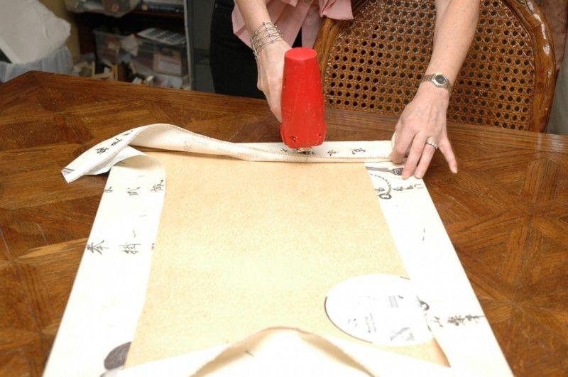 Using fabric as wall art DIY tutorial Stapling Fabric Art | If I ...