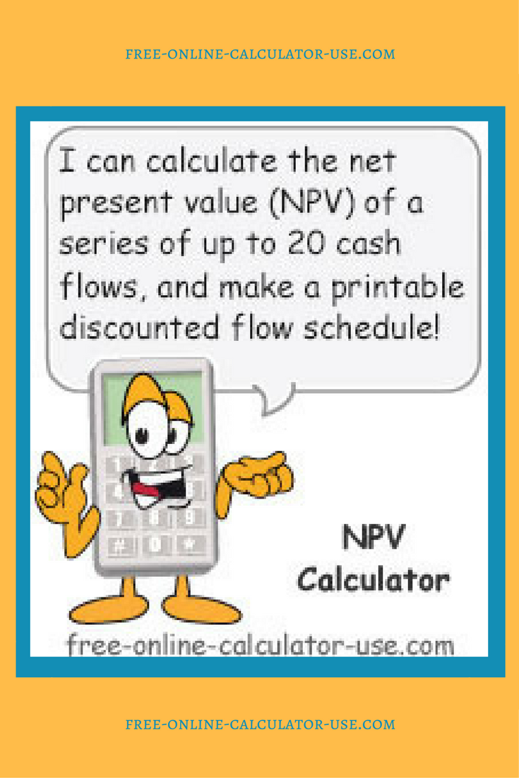 The Npv Calculator On This Page Will Help You To Determine The
