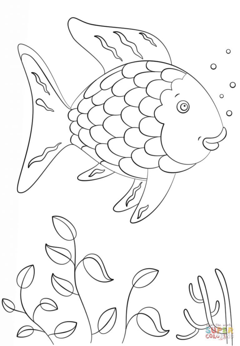 Rainbow Fish Super Coloring Arts And Crafts Pinterest Page