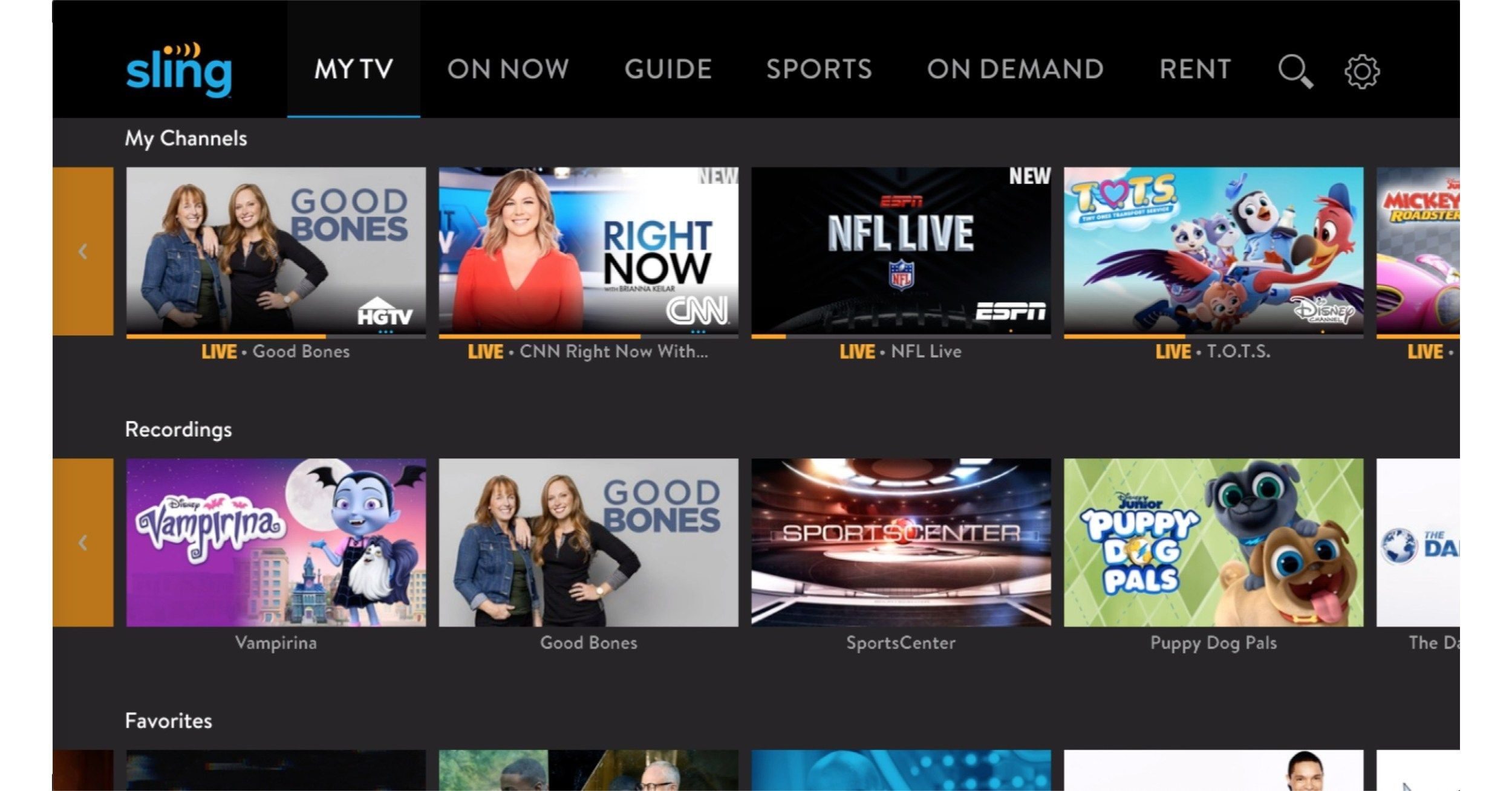 Sling tv bolsters live tv with fox news msnbc cnns hln in