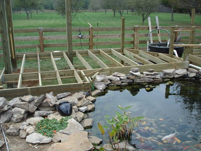 Koi Pond Patio Koi Pond Deck Building Ponds Pinterest Pond